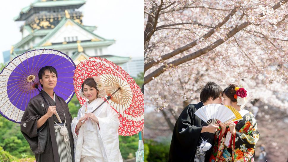 Photo Wedding at Osaka castle park in Osaka,Japan (movie)