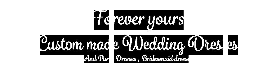 custom made wedding dress text